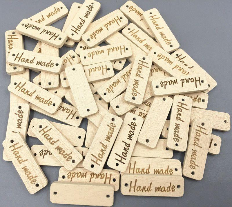 """100 kusů štítků """"hand made"""""""