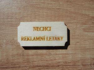 Cedulka na poštovní schránku
