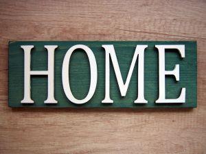 Dekorační dřevěná cedule s nápisem zelená, 3 varianty | Home, Love, Welcome