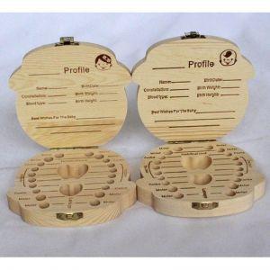 Dřevěná krabička na zoubky