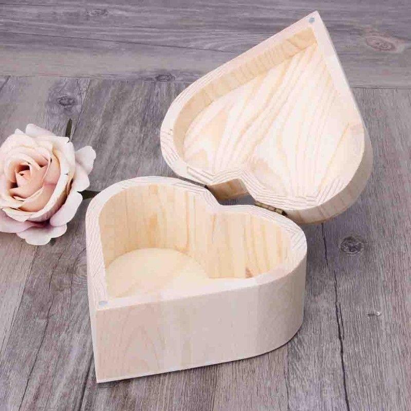Dřevěná krabička srdce