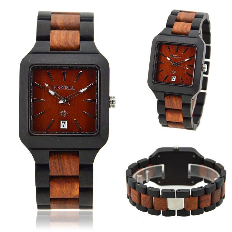 Dřevěné hodiny a hodinky