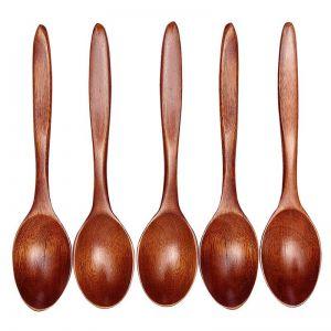 Dřevěné lžičky 5kusů střední bambusové