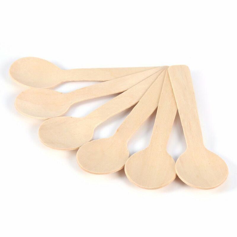 Dřevěné mini lžičky zmrzlinové 100ks