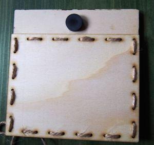 Dřevěný rámeček na fotku z ultrazvuku, Oznámení očekávání miminka