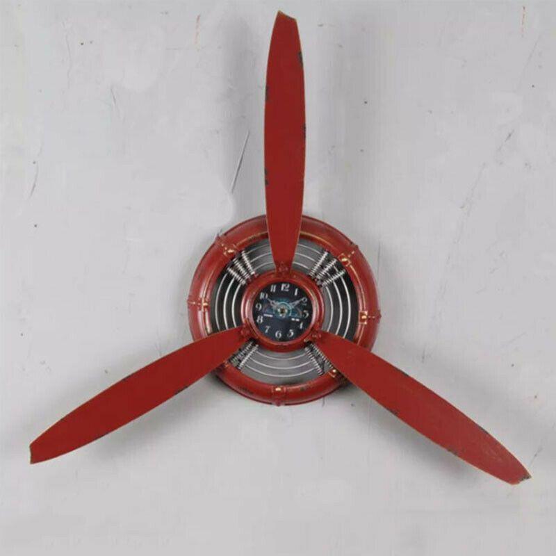 Industrální nástěnné hodiny, vrtule