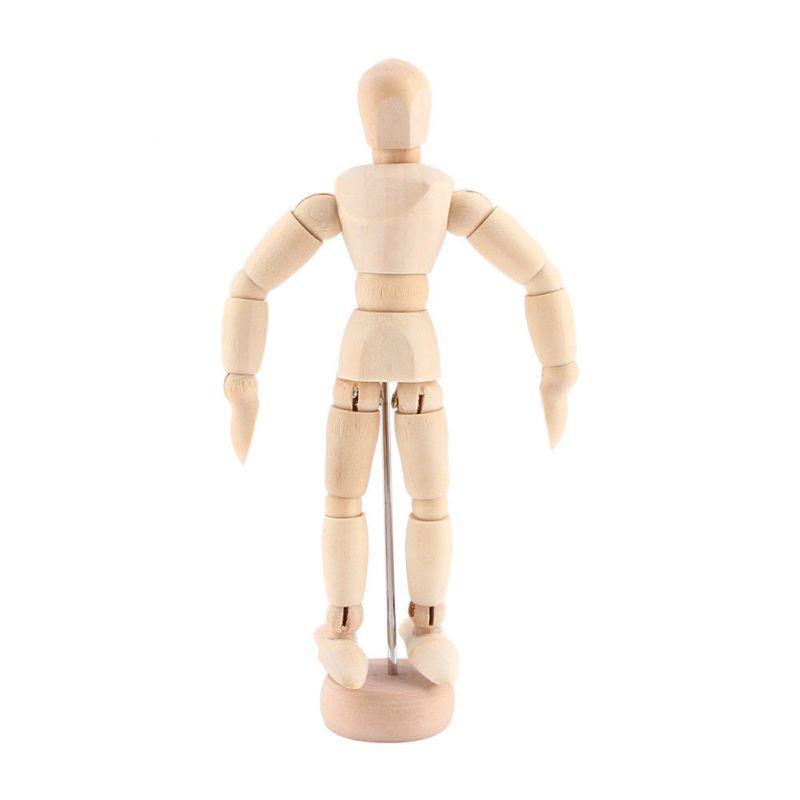 Lidská dřevěná postava, tvarovatelná