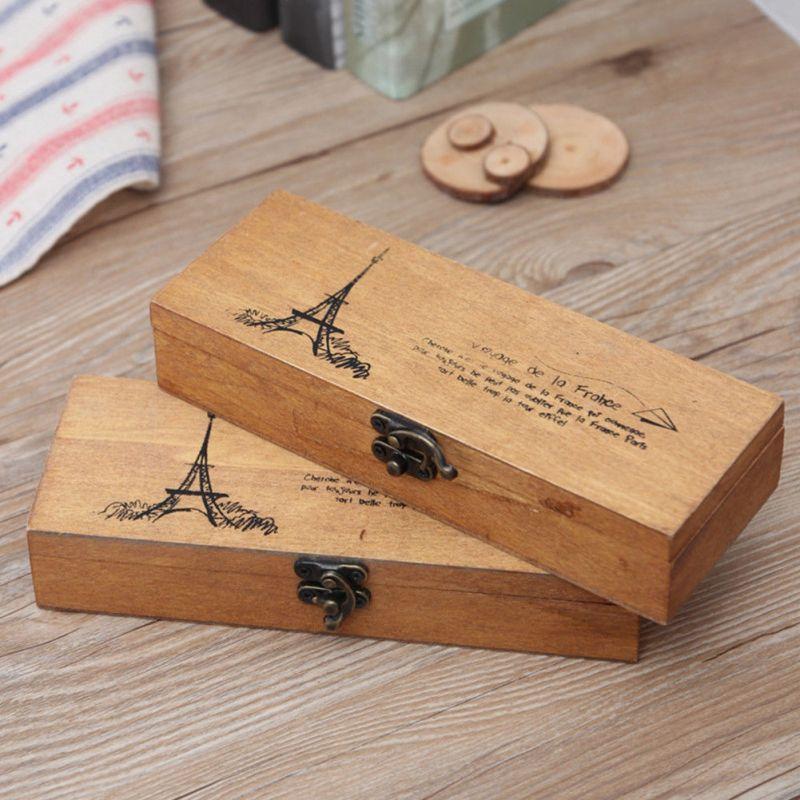 Malá dřevěná krabička s motivem