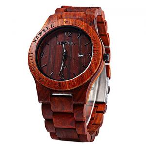 Pánské dřevěné hodinky BeWell, různé barvy | Black, Maple, sandal, Zebra