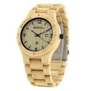 Pánské dřevěné hodinky BeWell, různé barvy