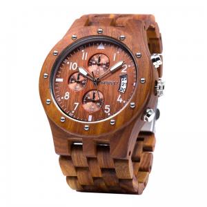 Pánské dřevěné hodinky BeWell se stopkami