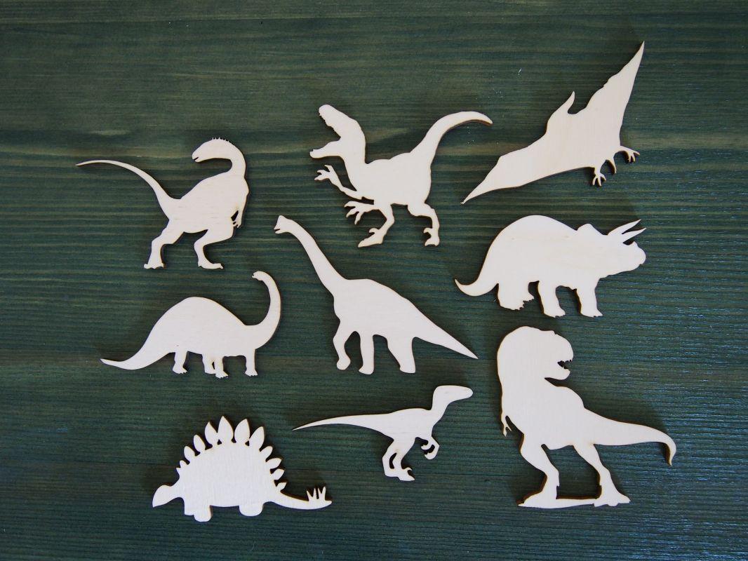 Sada výřezů z překližky dinosauři