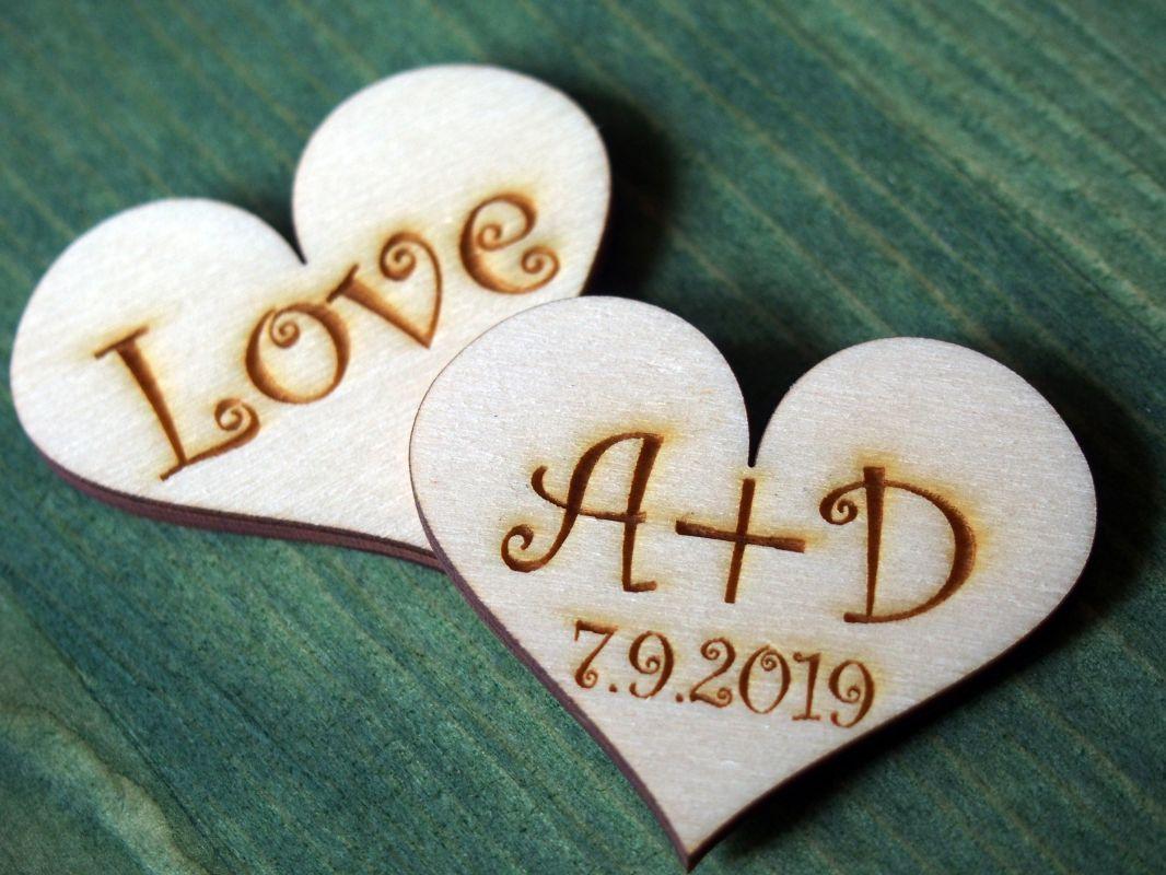 Srdce 4cm s nápisem