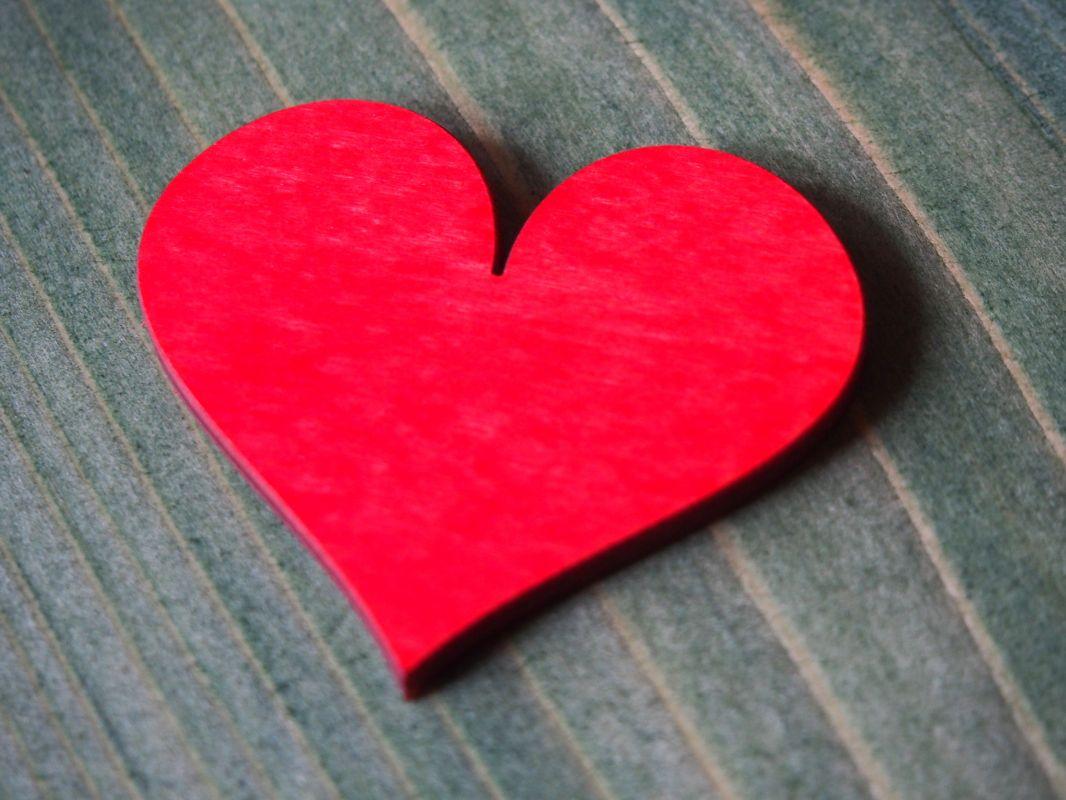 Srdíčko červené 4cm