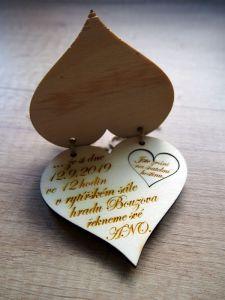 Svatební oznámení otevírací srdce