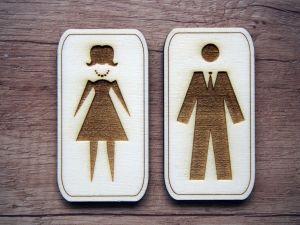 Cedulky na dveře WC pár