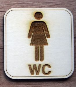 Cedulky WC klasické