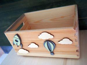 Dřevěná bedýnka letecká 2