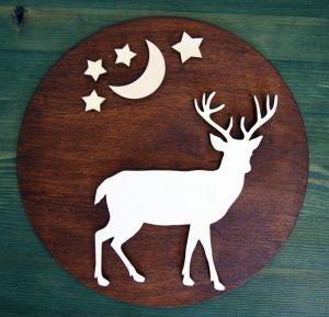 """Dřevěná dekorace kruhová """"wild stars"""""""