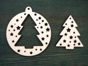 """Dřevěná vánoční ozdoba 2v1 """"stromek"""""""