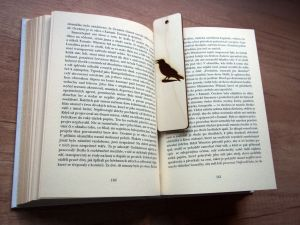 Dřevěná záložka do knihy bez textu