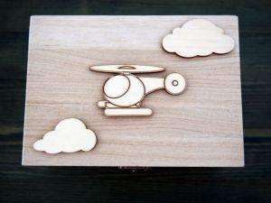 Dřevěná zavírací krabička letecká