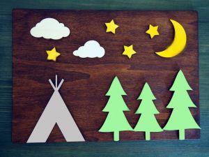 Dřevěný obraz divočina