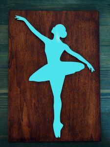 Dřevěný obrázek baletka 1