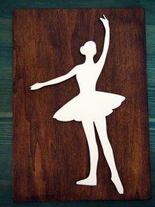 Dřevěný obrázek baletka 4