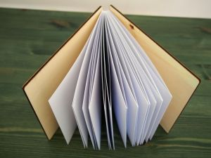 "Fotoalbum/guestbook s dřevěnými deskami ""motýlí kruh"""