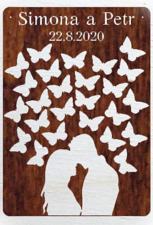 """Kniha hostů """"pár s motýly"""""""