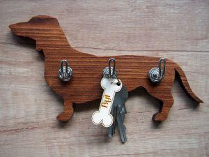 Věšák na klíče jezevčík