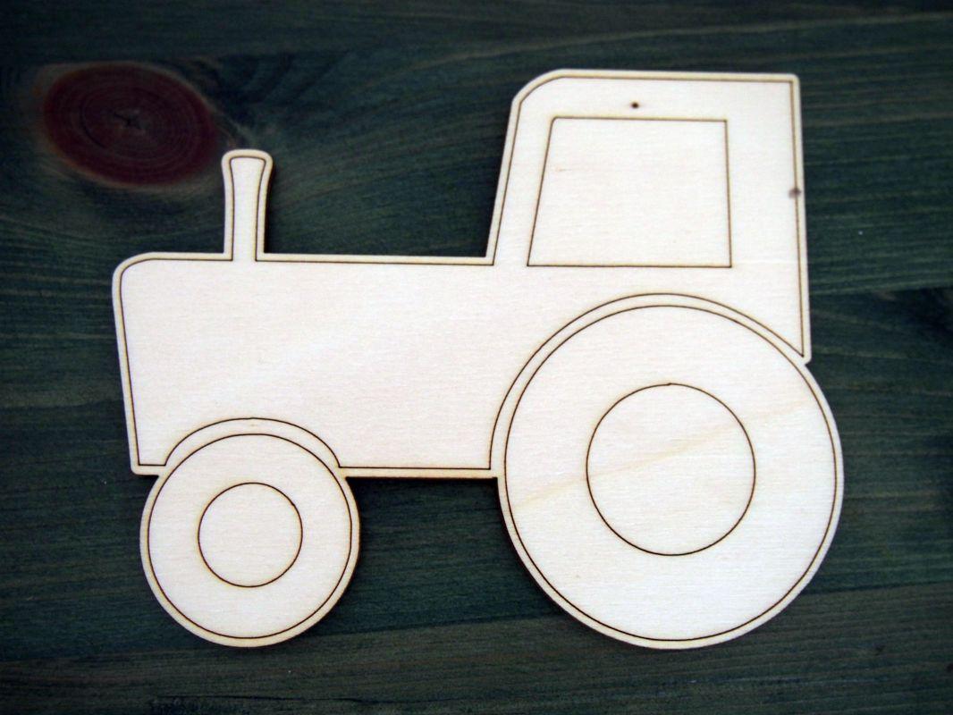 Výřez z překližky traktor