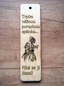 Záložka do knihy dřevěná
