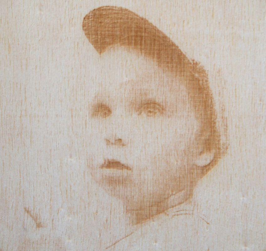 Fotografie gravírovaná do dřeva 15x20cm
