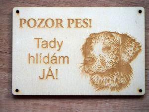 Cedulka POZOR PES!