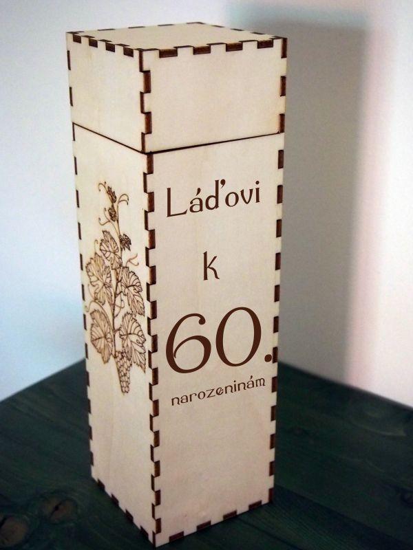 Dárková krabice/box na víno na míru