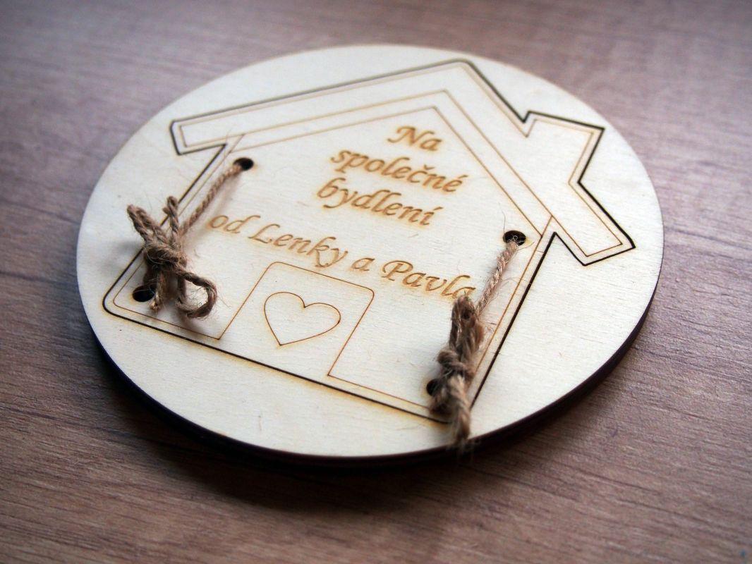 Dárková krabička na peníze - domek