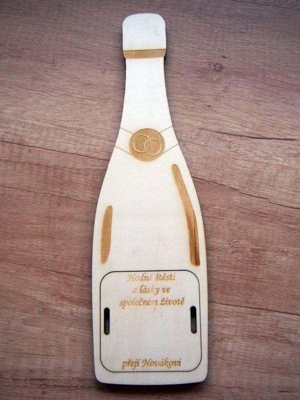 Dárková krabička na peníze - láhev