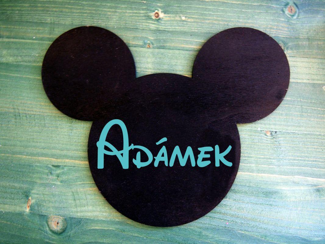 """Dekorace """"myšák"""" se jménem"""