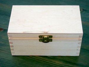 Dřevěná krabička na čaj se 2 přihrádkami