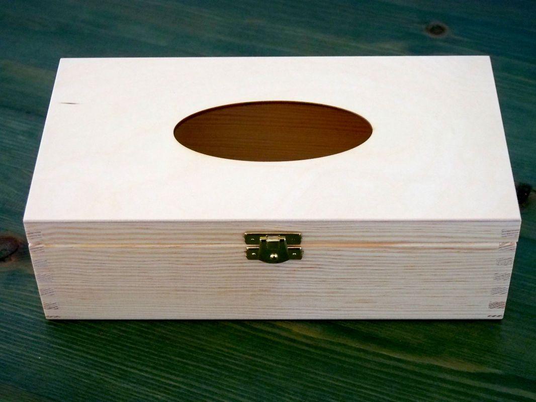 Dřevěná krabička na papírové kapesníky