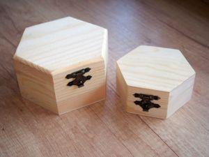 Dřevěná krabička šestiúhelník