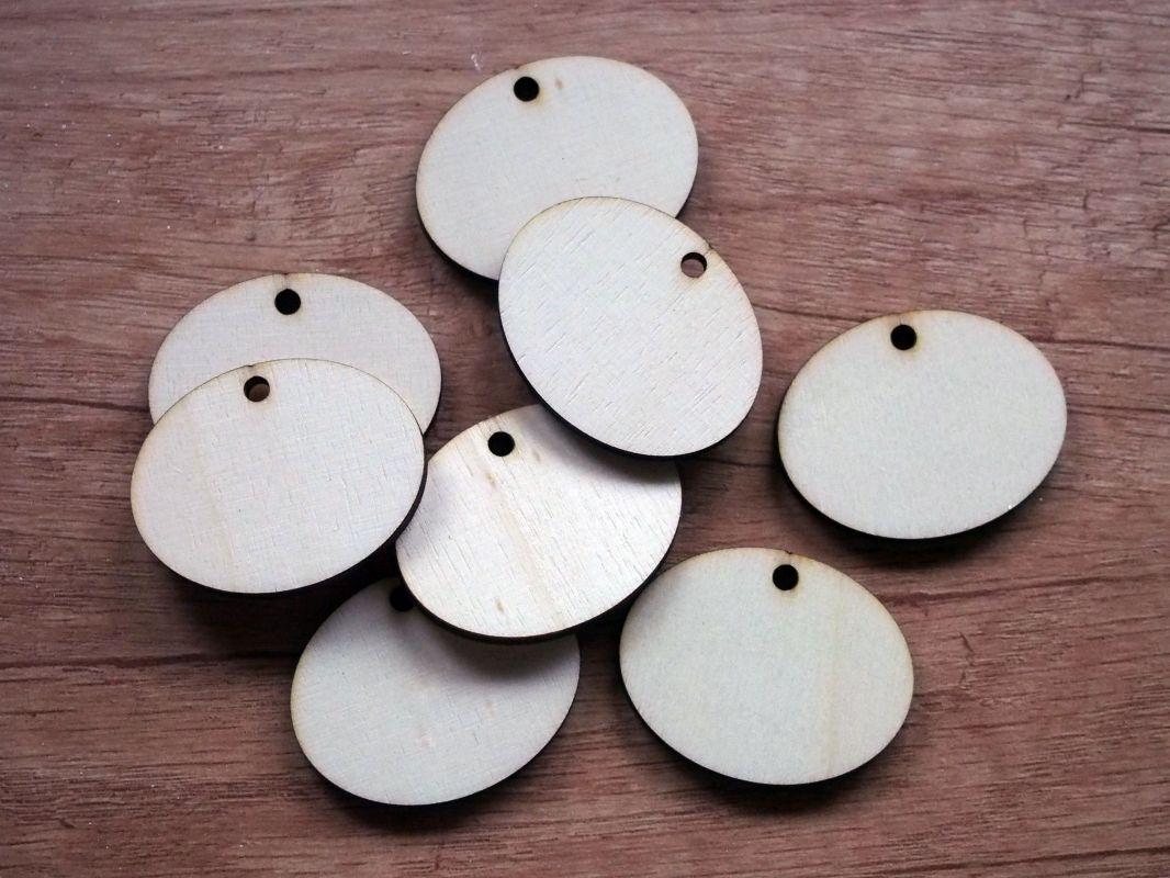 Dřevěné štítky k popisování oválné