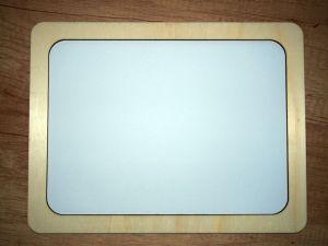 Dřevěný fotorámeček s gravírovaným textem