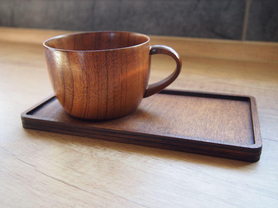 Dřevěný podtácek pro hrnek varianta 1