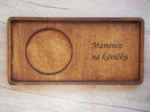 Dřevěný podtácek pro hrnek varianta 1 s gravírováním