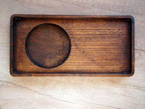 Dřevěný podtácek pro hrnek varianta 2