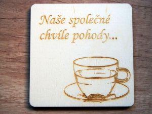Sada podtácků na čaj se jmény