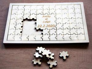 """Svatební kniha hostů """"puzzle"""""""
